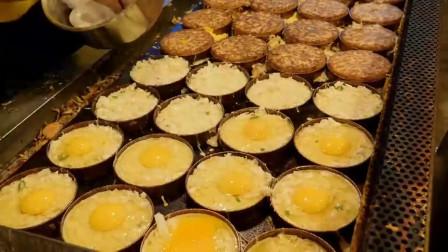 油煎鸡蛋,培根,蔬菜,培根蔬菜鸡蛋饼,软脆超美味