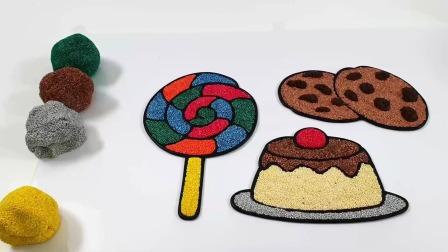 手工DIY制作糖果蛋糕甜甜圈模型玩具