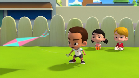 小孩用嘴把风筝吹起来了,看完我整个人惊呆了