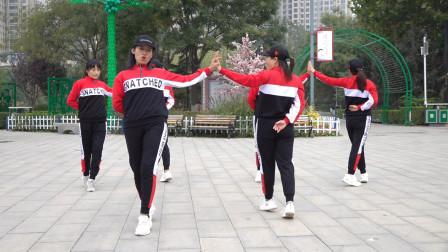 入门32步恰恰广场舞桃花运双人对跳版本老师一步一步教