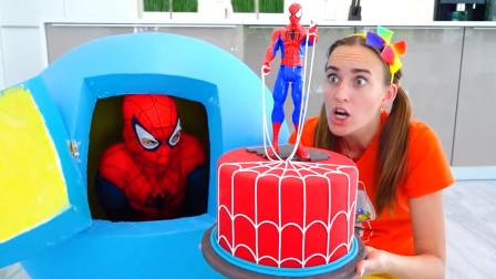 妈妈想吃蛋糕,蜘蛛侠送给妈妈蜘蛛侠蛋糕