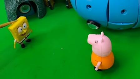 佩奇放学了,打算去玩一玩磁力球,结果它还少了一块
