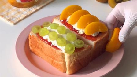 奶油水果吐司面包,酸甜好滋味