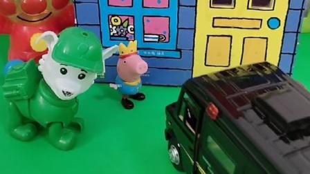 小丽和乔治越走越远,乔治看到了车他想坐上去,小丽说不可以坐
