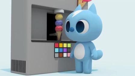 特工们来到了冰淇淋机前,弗特能吃多少冰淇淋呢?迷你特工队游戏