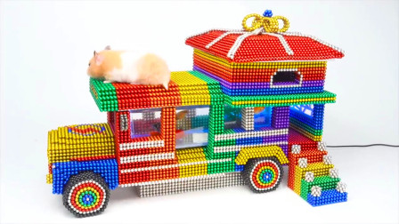 DIY巴克球教程,如何用彩色巴克球组装小宠物房车?双层房车超气派呢