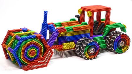 DIY巴克球教程,如何用彩色巴克球建造彩虹压路车?动手动脑超好玩