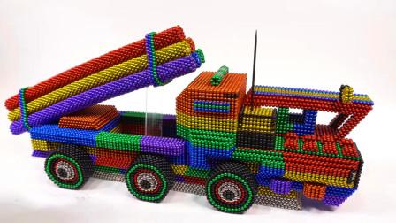 DIY巴克球教程,如何用彩色巴克球建造超级战车,是不是很霸气呢?