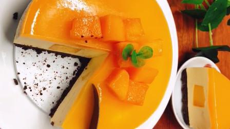 厨师长教你做芒果酸奶慕斯蛋糕,清凉的口感很受欢迎,上桌抢着吃