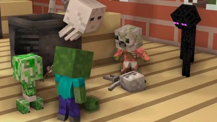 我的世界动画-怪物学院-变小宝贝挑战-Bibikon TV