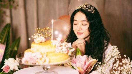 赵丽颖33岁生日!头戴皇冠对蛋糕许愿
