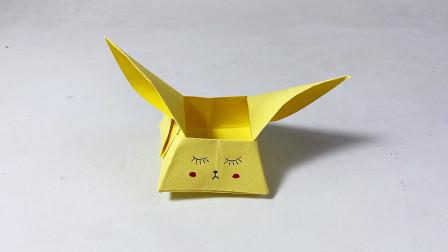 教你折纸小兔子盒子,简单漂亮,儿童很喜欢