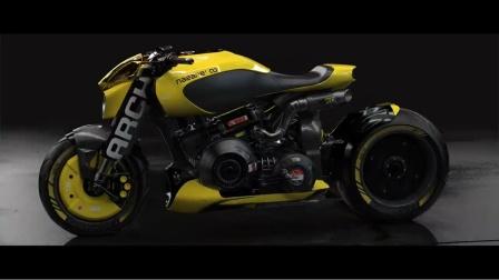 【游民星空】《赛博朋克2077》合作款定制摩托