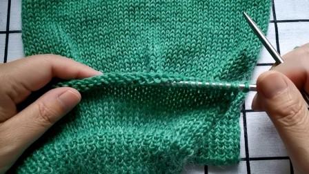 女士休闲款毛衣袖片编织教程二,袖子加针方法,适合塔肩袖毛衣图解视频