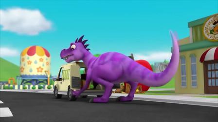 汪汪队:小砾的朋友真厉害,居然是大恐龙,这也太酷了