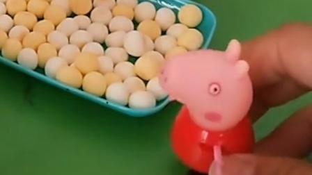 僵尸来卖好吃的了,兔妈妈误会了人家,乔治佩奇还来解释了