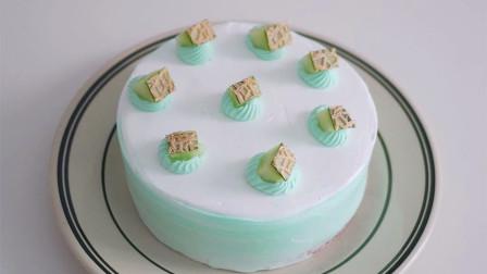 清香哈密瓜奶油蛋糕,清甜不腻!