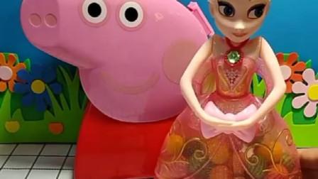 佩奇给大家送来了西瓜泡泡糖,冰雪公主送来了五颜六色的泡泡糖,你们喜欢谁呢