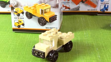 卡通3D拼装玩具,军事卡车