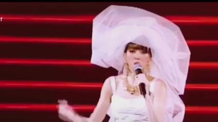 """梅艳芳穿婚纱撑着唱完最后一场演唱会,以前结束总会说""""晚安""""但这一次一句拜拜"""