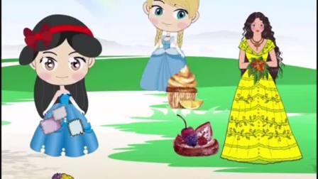 贝尔节日给白雪很多好吃的童话故事白雪和贝尔儿童故事