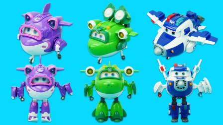 超级飞侠变形玩具:3款会说话变形的超级装备机器人