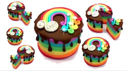 手工之制作七彩彩虹蛋糕
