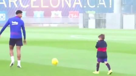 足球天赋与生俱来,梅西儿子随队训练,国足要是看了心里惭愧不