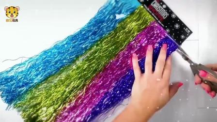 少儿儿童水晶泥玩具 圣诞树的彩带装饰制作水晶泥