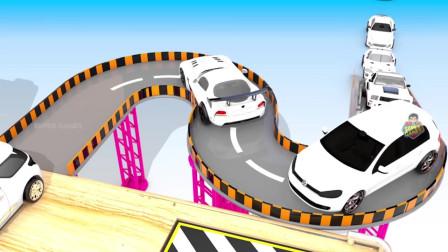 小汽车卡车工程车游戏8