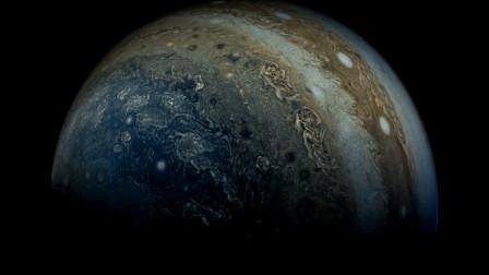 美!这就是朱诺号飞越木星时,拍摄的木星美图