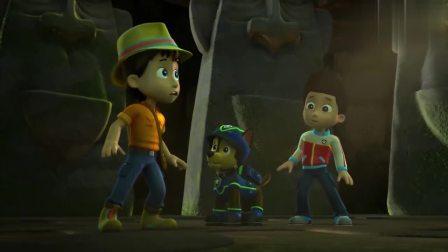 汪汪队:小猴子也贪财,看见金项链,竟直接给偷走了