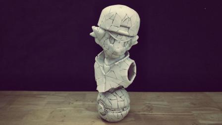 风之伊:用泡沫做一个宝可梦小智模型,有点好看