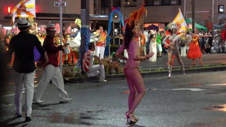 桑巴舞者非常漂亮⭐︎有趣的日本夏季节日⭐︎桑巴舞之夜