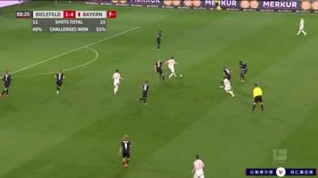 第89分钟拜仁慕尼黑球员穆夏拉射门 - 被扑