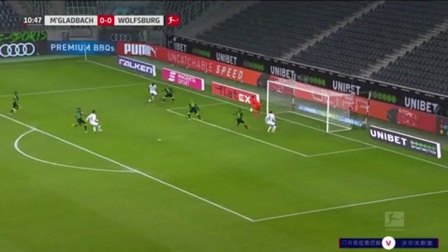 第11分钟门兴格拉德巴赫球员马库斯·图拉姆射门 - 打偏