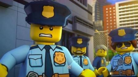 乐高城市:劫匪假装保洁员想混进警局,却被外出的警察发现