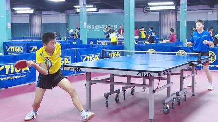这位王奕涵小朋友,基本功扎实正反手均衡,是河南一位乒乓好苗子