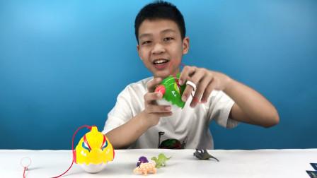 心奇爆龙战车抓恐龙玩法多多 ,创意多多!