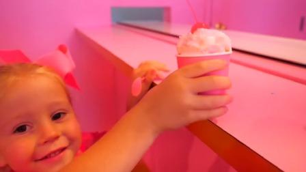 Nastya在冰淇淋博物馆玩耍