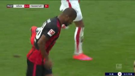 第71分钟法兰克福球员阿尔马米·图雷射门 - 打偏