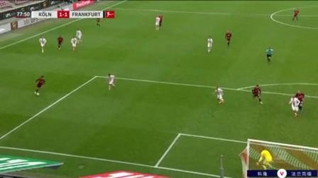 第78分钟法兰克福球员尤尼斯射门 - 被扑