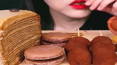 丝滑巧克力,可可千层蛋糕系列,睡前小甜点