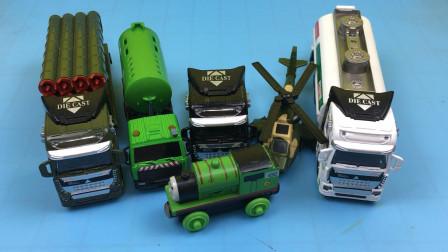 托马斯小火车分享火箭车洒水车玩具