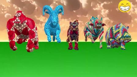 糟糕!动物们被彩色图案了,得快点找到水源