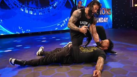 WWE:大狗罗曼彻底爆发,表侄。