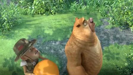 熊出没:光头强答对问题,熊强获得了地图和一把钥匙!