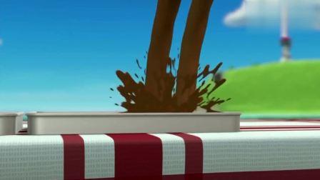 汪汪队:小砾脚滑,把糖浆扣在毛毛头上,为什么倒霉的总是毛毛!