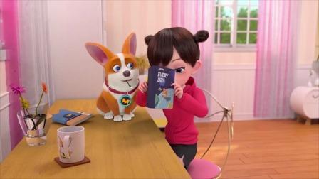 飞狗MOCO:小狗玩手机,收了交学费的红包