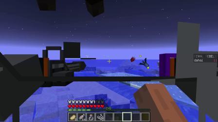 我的世界:打捞火箭发现巨型苦力怕鱼